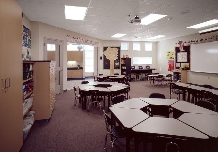 Classroom Window Design ~ Classroom with garage door like overhead panels that