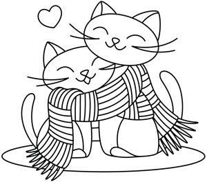 Gatos con bufanda
