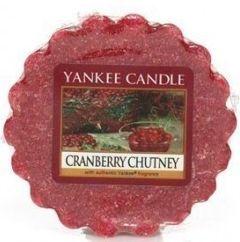 Yankee Candle - Chutney aux Canneberges (Cranberry Chutney) Mélange de Canneberges fraiches, le zeste d'une orange, du romarin, des raisins sec et une touche de miel dore.