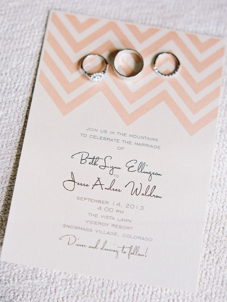 custom wedding invitations nashville%0A Chevron Wedding Invitation   See the wedding on SMP  http   www