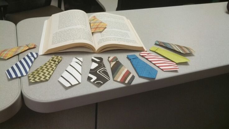 Neck tie bookmarks - origami - for Joel to give out?