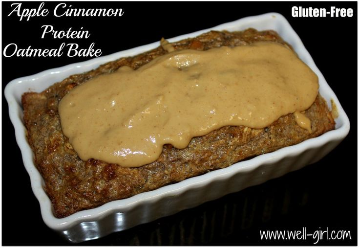 Apple Cinnamon Protein Oatmeal Bake 375 calories/ 1.9g saturated fat ...