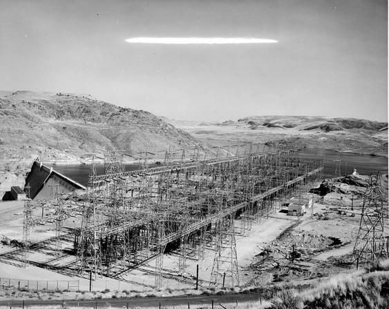 Grand Coulee Dam, With Lake Roosevelt in the Distance