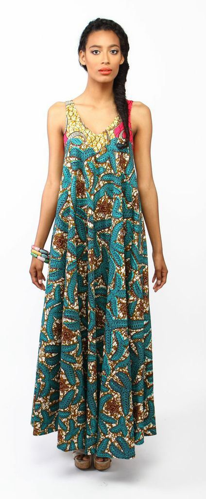 suakoko betty Tent dress in Marine ~ African Style