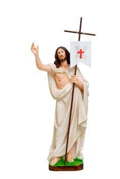 Gesù risorto cm. 40 altezza cm. 40 in resina dipinto con colori acrilici  http://www.ovunqueproteggimi.com/collezione-statue/ges%C3%B9/risorto/