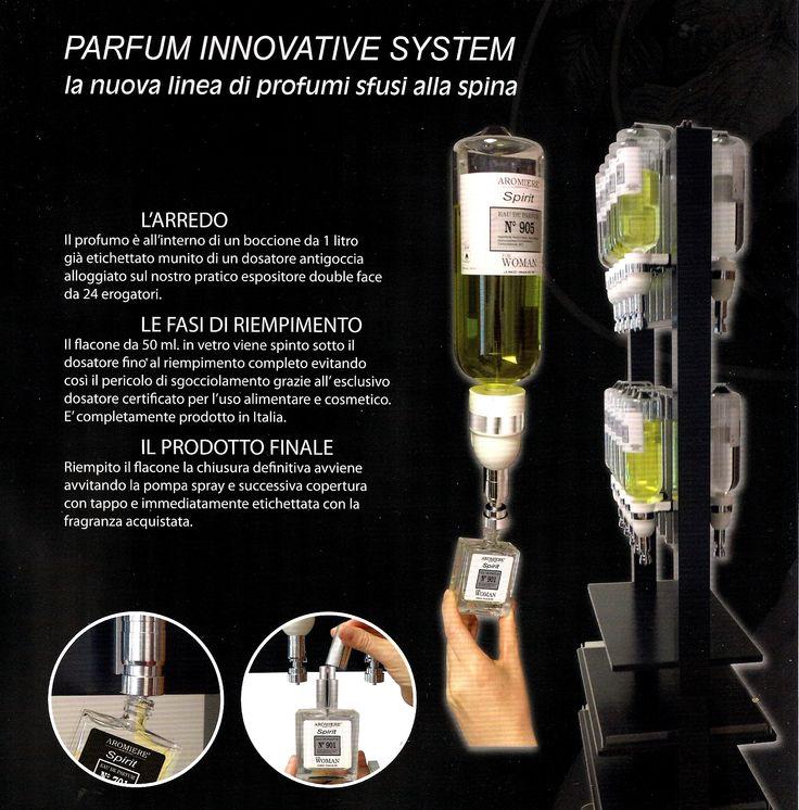 """L'innovativo sistema alla spina per gli eau de parfum equivalenti. Eco-compatibili e naturali. Il sistema consente di triplicare il margine di guadagno!Nella foto il mobile """"Start up"""" da 24 dosatori da litro. Se hai un negozio, richiedi più informazioni scrivendoci all'indirizzo: civico15snc@gmail.com  TREVISO - ITALIA"""