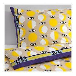 IKEA - GLÖDANDE, Dekbedovertrek met 1 sloop, , Door de blinde drukknopen blijft het dekbed op zijn plaats.