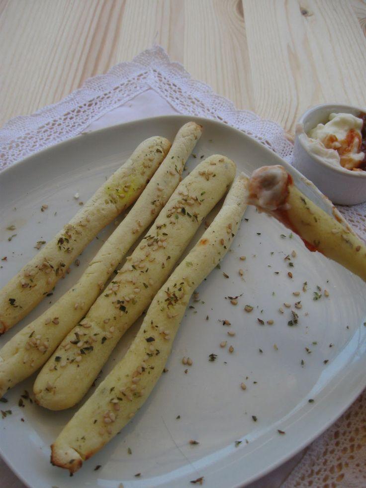 resep bebas gluten: Grissini (bread stick / roti tongkat)