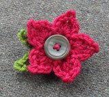 Crochet button flower
