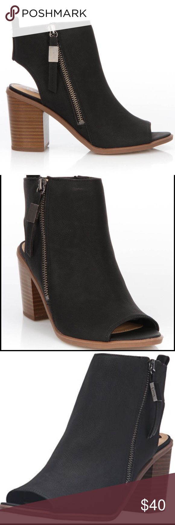 Sam Edelman Black Zip Up Booties - Kammi Like new! Worn once. Circus by Sam Edelman Shoes Ankle Boots & Booties