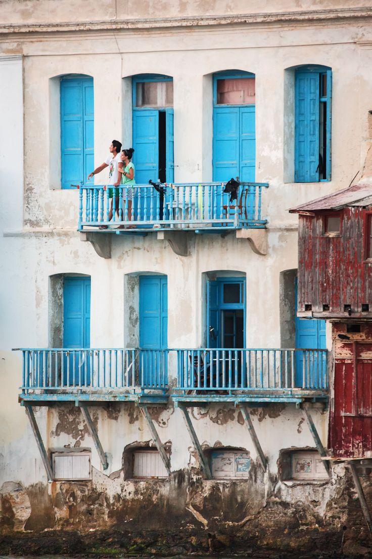 Windows in Mykonos (Little Venice), Aegean_ Greece