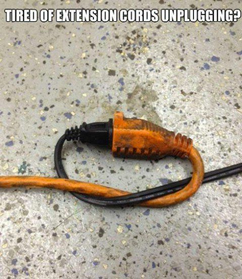 Extension cords - Top 68 Lifehacks and Clever Ideas that Will Make Your Life Easier