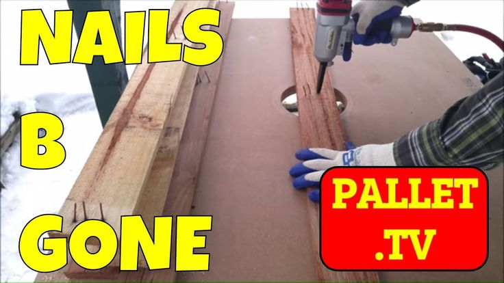 How to pallets - use an air punch to remove nails from a pallet board or recycled wood Easy and Fast The Air Punch from Air Locker is in my opinion the best ...