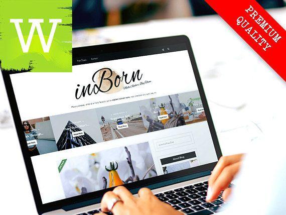 Nuevo WordPress Theme - tema de WordPress Blog - muy limpio y Minimal WordPress Theme para Bloggers - plantilla de Blog de WordPress - completa respuesta