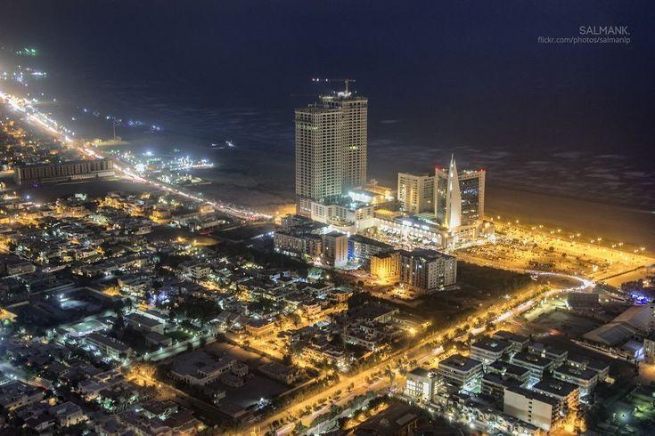 Clifton Nightscape from top of the Bahria Icon Tower, Karachi | By Salman Khan [1024x683] : ExplorePakistan