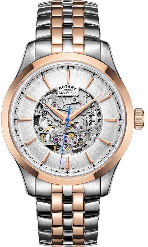 Rotary reloj automático esquelético
