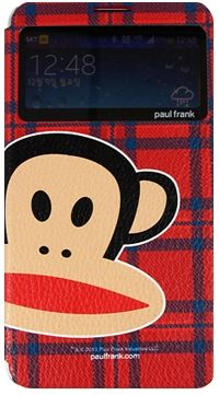 For Samsung Paul Frank CheckWindow Red