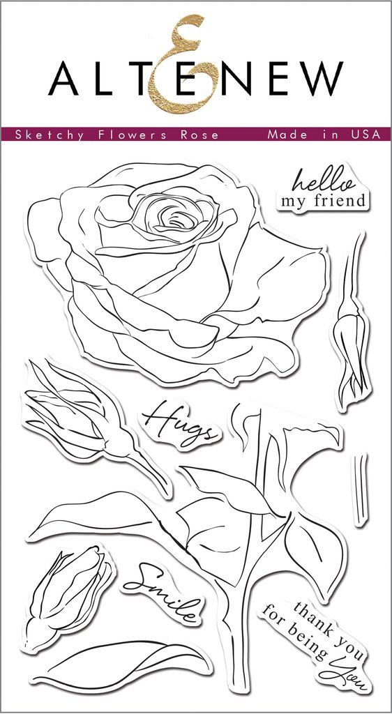 Sketchy Rose Stamp Set                                                                                                                                                                                 More