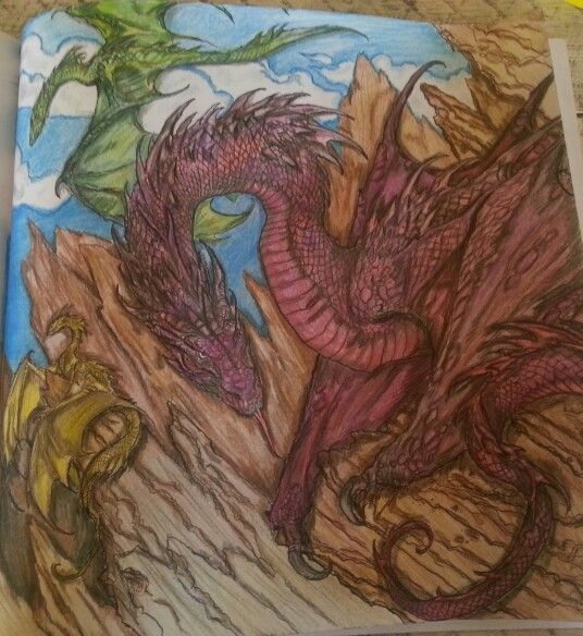 Game Of Thrones Coloring Book Adult Color Theraphy Dragons