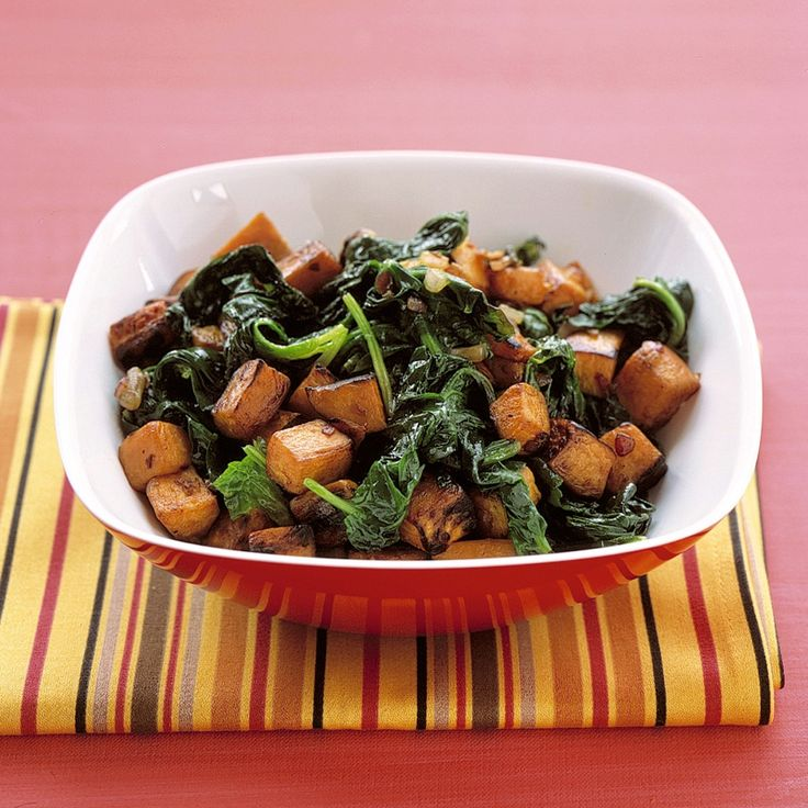 Sauteed Sweet Potatoes and Spinach -- Unsure but I want to try.