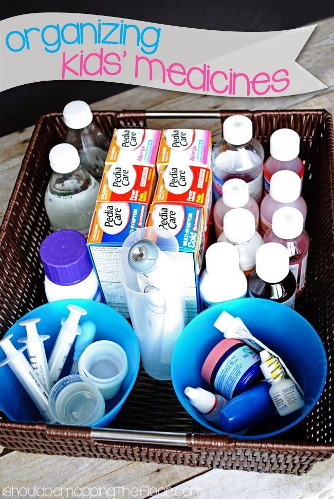 Great tips on keeping kids' medicines tidy. Great for the middle of night feel-bads.