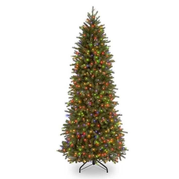 Downswept Douglas Fir Slim Pre-lit Christmas Tree   Slim ...