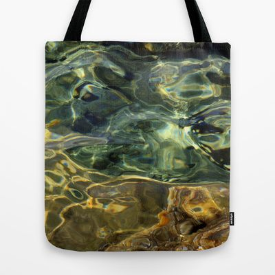 Water surface (3) Tote Bag by Angela Bruno - $22.00