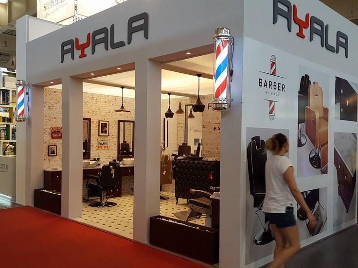 Ayala furniture stand at LOOK  2016 fair in Poznań- Poland. #Salonideas #Salondesign #Barbershop