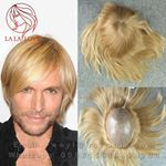 Product Type: Man toupee    Material: Human hair    Length: Middle hair (8-9inch)    Technics: All hand-woven    Color:  ( Euro Injection color )