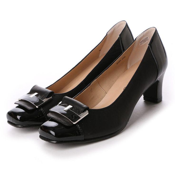 エスプレッソ Espresso 楽ちん3Eバックルヒールパンプス (ブラック) -靴とファッションの通販サイト ロコンド