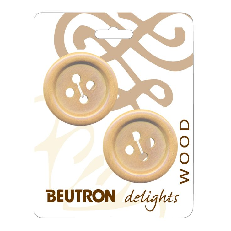 Shop | Category: Brown/Wood | Product: Wood Delights Carded Button SR1951