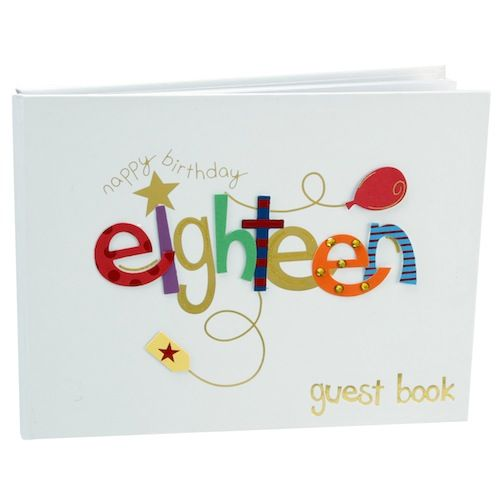 #18th #Birthday Guest Book, Having a party?? then you need a birthday guest book perfect gift and keepsake, Have family and friends write comments in this guest book so you can remember who was there forever.