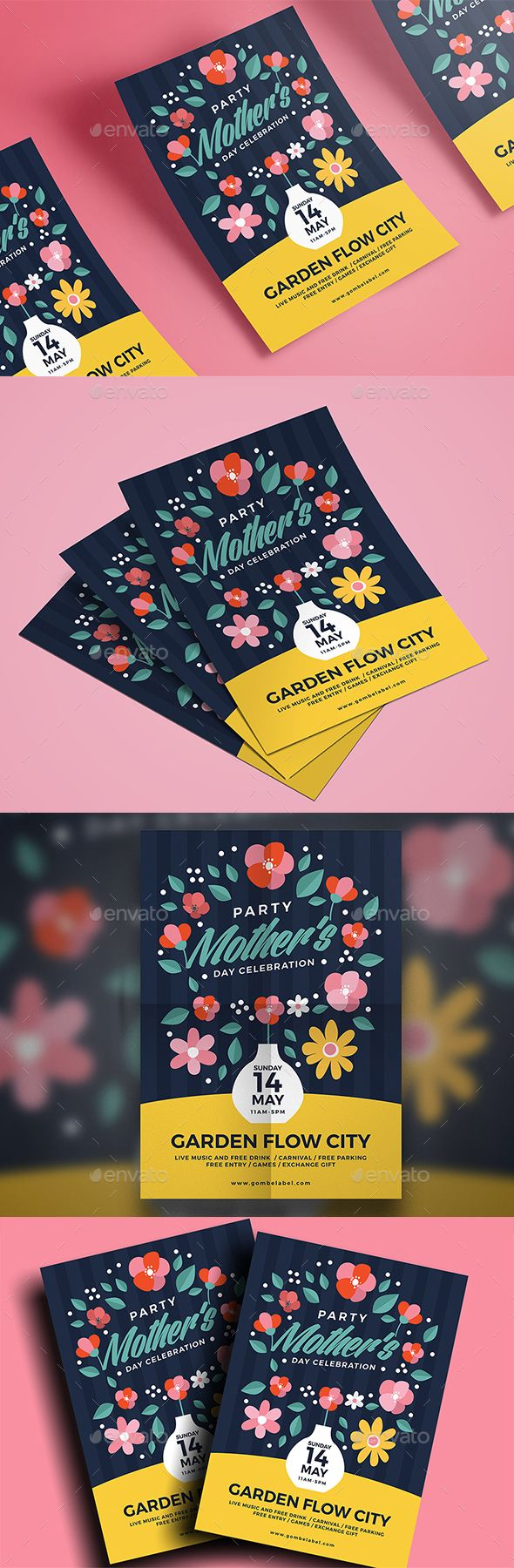 Mother's Day Flyer Template PSD, AI