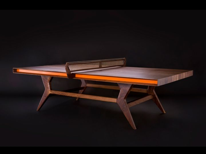 design lush mackenrow table tennis in walnut and brass inlay by jory brigham design & 56 best Ping Pong Dining Table images on Pinterest | Ping pong table ...