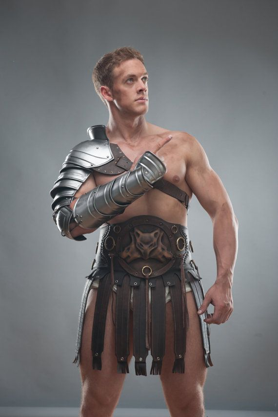 LARP Armor Gladiator Spartacus Leather by IronWoodsShop on Etsy