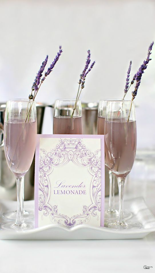 Love this idea for a signature drink: Lavender Lemonade with Vodka.