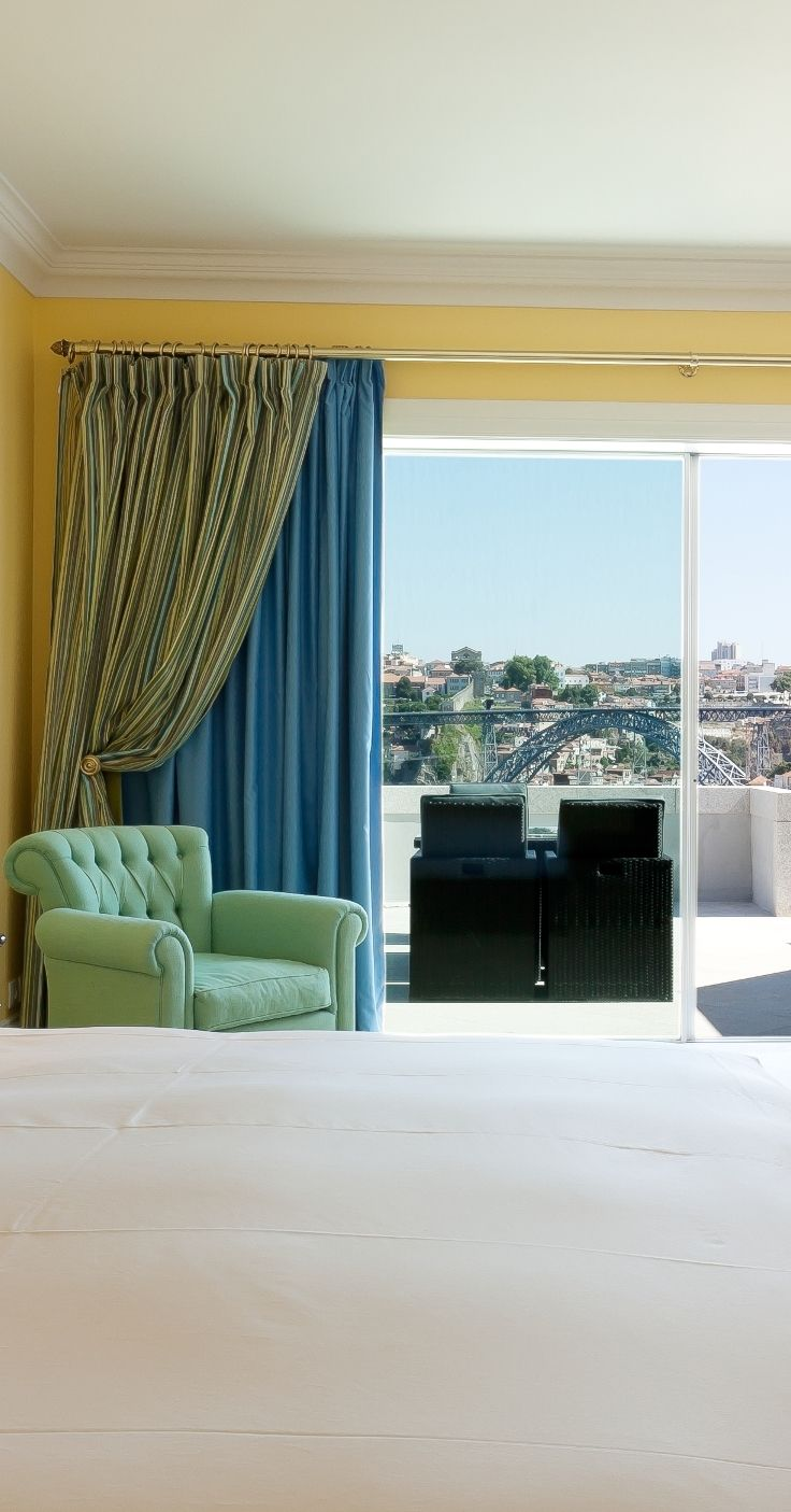 Superior Rooms at #Theyeatman are luxuriously and elegantly appointed and decorated in an understated, classic style.All are fully equipped and offer a private terrace and panoramic view of Porto and the #Dourovalley river. #Portugal