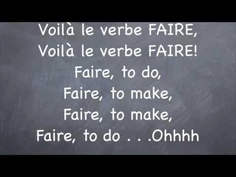 French Irregular Verb:  Faire