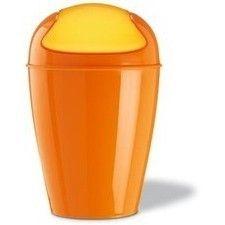 Schwingdeckeleimer DEL XL (30 Liter) solid orange von Koziol