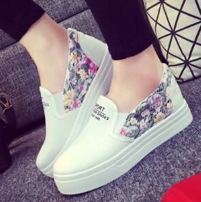 Floral Canvas Slip-On Shoes