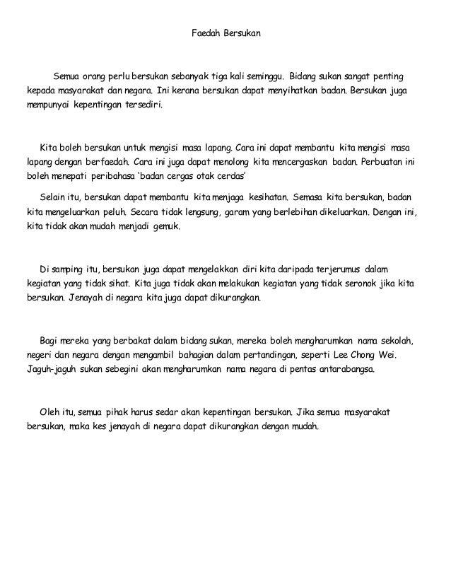 Image Result For Karangan Faedah Bersukan Image