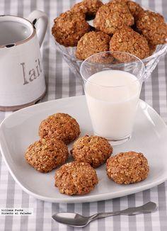 Galletas de avena, naranja y jengibre. Receta #recipe #cookies #sweets