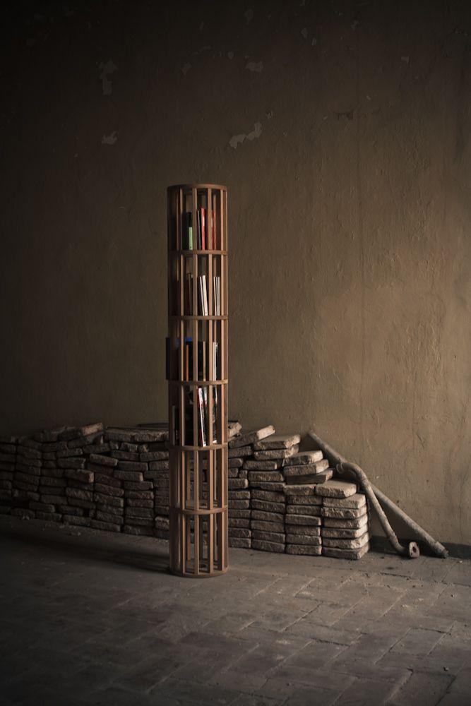 caprice.01 Bookshelf solid oak made in italy design handcraft Alessandro Soliani 2012