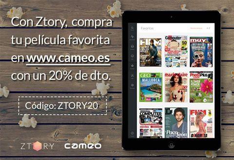 ¿Sabías que ser de #Ztory tiene #premio? Compra tu #película favorita en Cameo y llévate un 20% de descuento utilizando este código: ZTORY20 ¡Aprovéchate ya!