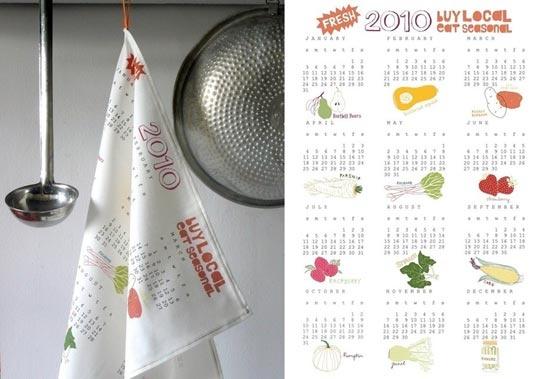 Wonderful kitchen towel calender