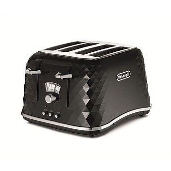 Delonghi CTJ4003BK Brillante Black 4Sl Toaster