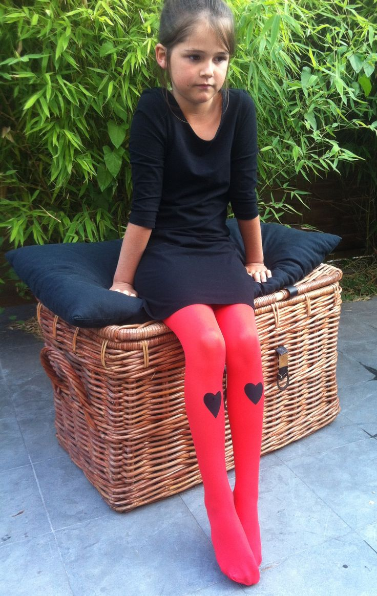 cur de velours collants lycra 40d cur en velours noir coloris rouge 12 - Collants Colors
