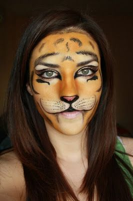 deea make up halloween make up tigrisor female tiger face paint - Tiger For Halloween