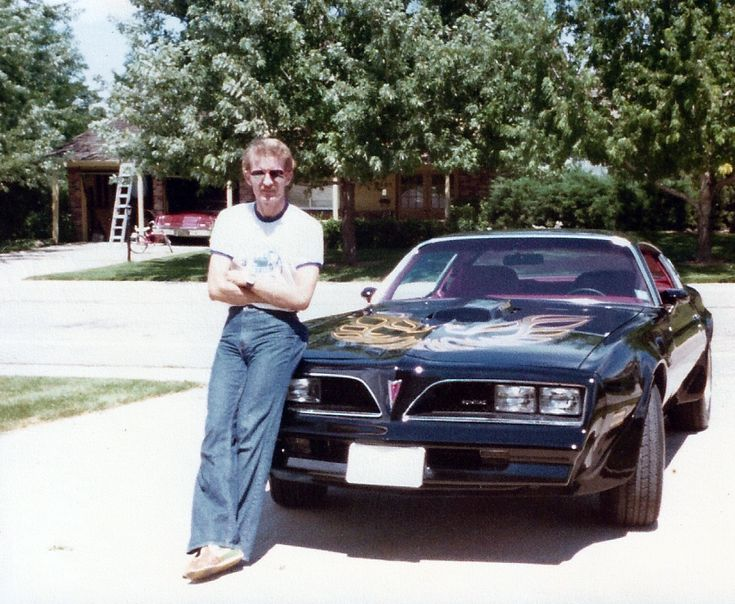 My father and his new Trans Am 1978