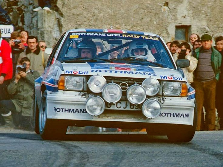 Walter Röhrl  powering his Opel Ascona 400 rally car to the 1982 World Rally  Championship drivers' title. The Ascona 400 was a homologation special sold only to make it eligible for rallying's Group 4 category, and was the last rear wheel drive rally car to win the drivers' world championship, ensuring its place in motorsports history. #WRC #WalterRohrl #OpelAscona400